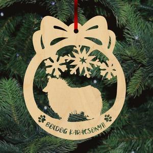 Fa karácsonyfadísz - Skót Juhász