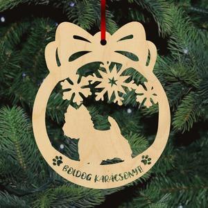 Fa karácsonyfadísz - Westie