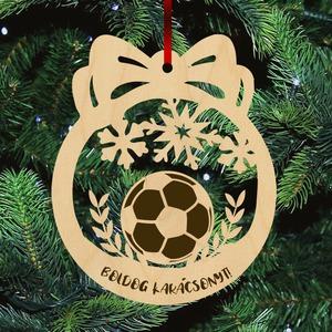 Fa karácsonyfadísz  - Focilabda