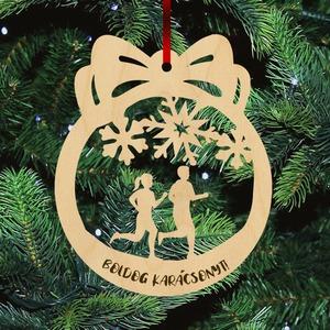 Fa karácsonyfadísz  - Futók