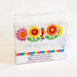 Gyertya szett gyerekeknek - Virágok