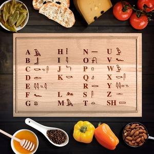 Egyiptomi hieroglifa abc vágódeszka