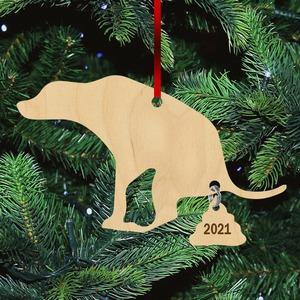 Fa karácsonyfadísz -Kakiló kutya