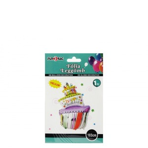 Happy Birthday fólia lufi- óriás torta
