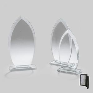 Üvegdíj - nyílhegy alakú 22cm