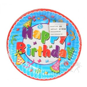 Papír tányér - Happy Birthday