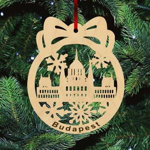 Fa karácsonyfadísz - Parlament-Budapest