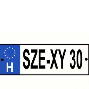 Rendszámtábla Se-xy 30