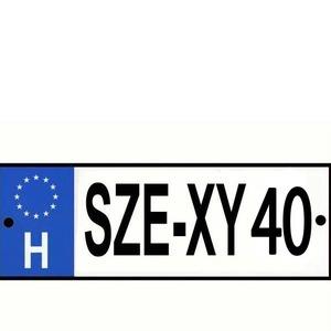 Rendszámtábla Se-xy 40