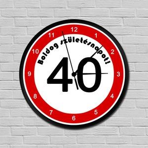 Sebességkorlátozós falióra 40. születésnapra