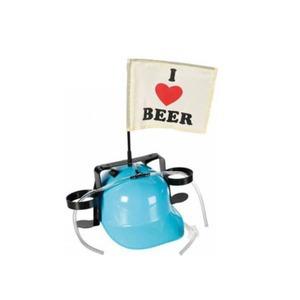 Sörsisak - I love beer zászlóval - kék