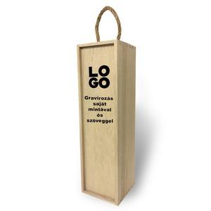 Fa bortartó doboz - Saját szöveggel