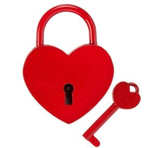 Szív alakú szerelem lakat