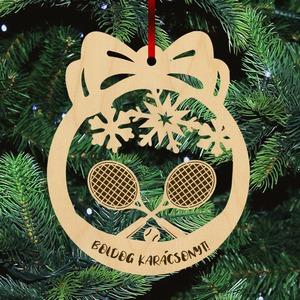 Fa karácsonyfadísz  - Tenisz