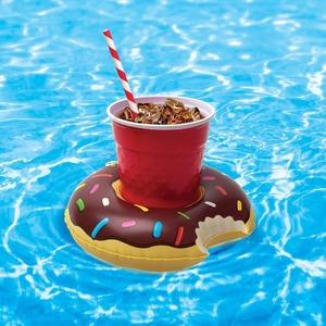 Úszó pohártartó fánk - barna