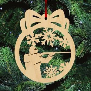 Fa karácsonyfadísz - Vadász