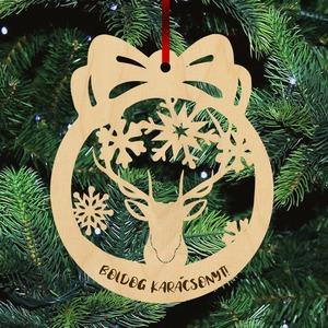 Fa karácsonyfadísz - Szarvas vadász