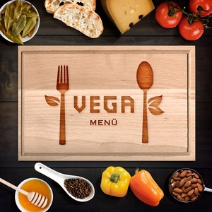 Vega menü vágódeszka