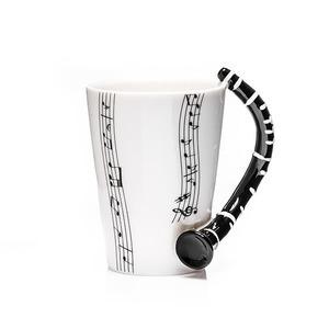 Zenész klarinét bögre