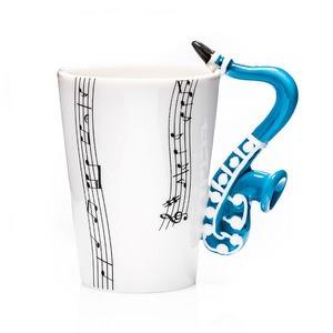 Zenész szaxofon bögre