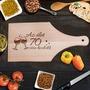Születésnapi borospoharas vágódeszka - Az élet 70 után kezdődik