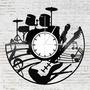 Hangszerek bakelit óra