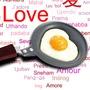 Szív tojássütő serpenyő